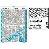 "Deleter Screen Tone Jr JR-142 [Newsprint Pattern][Sheet Size 182x253mm (7.16""x9.96"")] For Comic Manga Illustration Graphic Screentone"