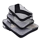 Compression Packing Cubes Travel Luggage Suitcase Organizer 3 Set