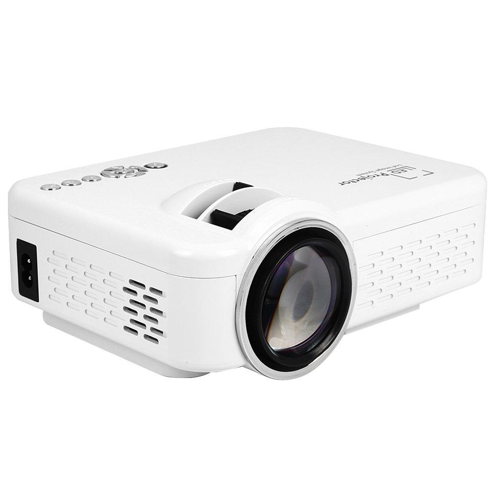 Duoying LEDミニプロジェクター(2018アップグレード)、HD WIFIビデオプロジェクター、様々なスマートターミナルプロジェクトをサポート、ホームシアターエンターテイメントに最適です。 B07FPX4663
