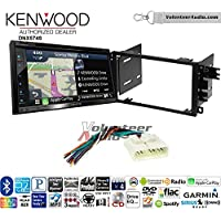 Volunteer Audio Kenwood DNX574S Double Din Radio Install Kit with GPS Navigation Apple CarPlay Android Auto Fits 1998-2002 Honda Passport, 1999-2004 Isuzu Rodeo