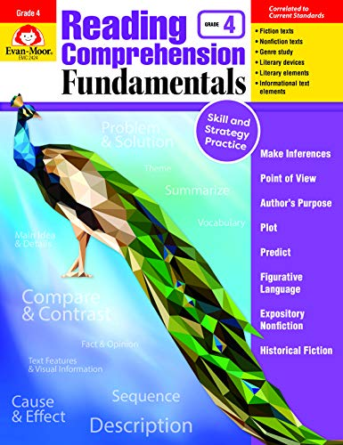 Evan-Moor Reading Comprehension Fundamentals, Grade 4 Teacher's Edition - Supplemental Teaching Resource for - Fundamentals Grade