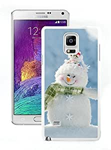2015 Newest Happily Smile Snowman White Samsung Galaxy Note 4 Case 1