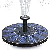 Solar Fountain, CONXWAN Solar Bird Bath Fountain Pump Free Standing Outdoor Water Pump for Outdoor, Garden, Pond, Patio and Garden