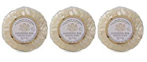 Gilchrist & Soames English Spa Oatmeal Cleansing Bar Trio Soaps - Set of 3, 2.8 Ounces Each