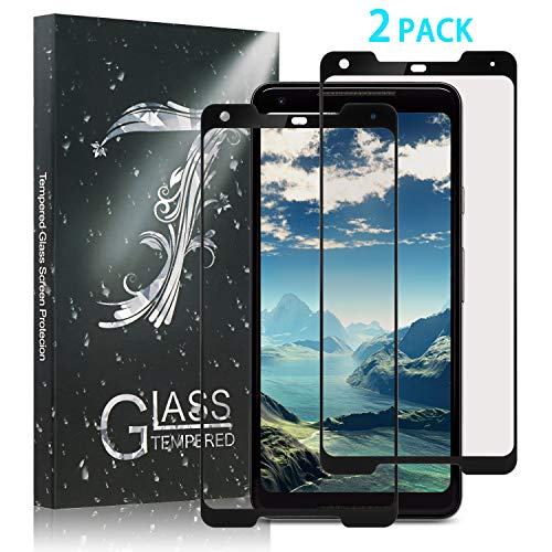 Xawy Google Pixel 2 XL Screen Protector Glass, Google Pixel 2 XL Tempered Glass Screen Protector 3D Curved with Dot Matrix for Google Pixel 2 XL 0.3mm (2-Pack) [Updated Adhesive Version]