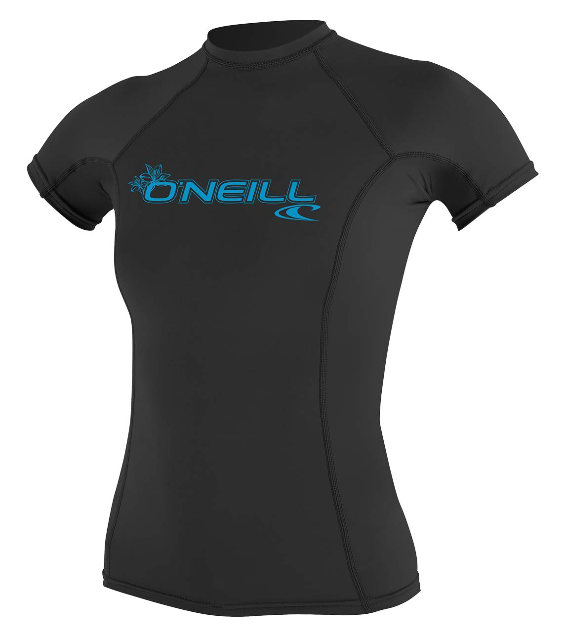 O'Neill Women's Basic 50+ Skins Short Sleeve Rash Guard, Black, X-Small by O'Neill Wetsuits