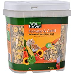 Wild Harvest Wh-83543 Wild Harvest Advanced Nutrition Diet For Hamsters Or Gerbils, 4.5-Pound