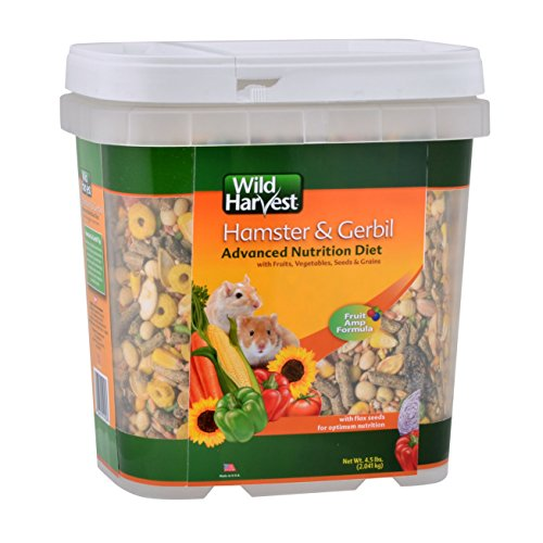 Wild Harvest WH-83543 Wild Harvest Advanced Nutrition Diet for Hamsters or Gerbils, 4.5-Pound (Premium Food Hamster)