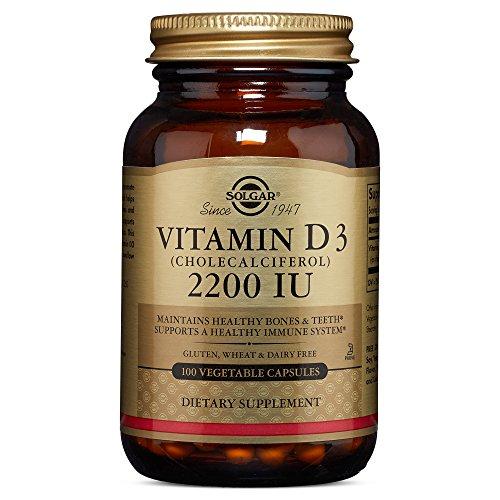 Solgar - Vitamin D3 (Cholecalciferol) 2200 IU Vegetable Capsules 100 Count