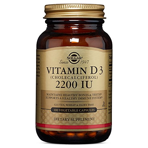 Solgar - Vitamin D3 (Cholecalciferol) 2200 IU Vegetable Capsules 100 Count