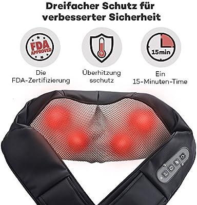 Sable SA-PCA002 Nackenmassagegerät Schulter Wärmefunktion Massageschal Shiatsu