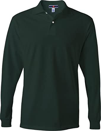 333af814a21 Jerzees mens 5.6 oz. 50/50 Long-Sleeve Jersey Polo with SpotShield ...