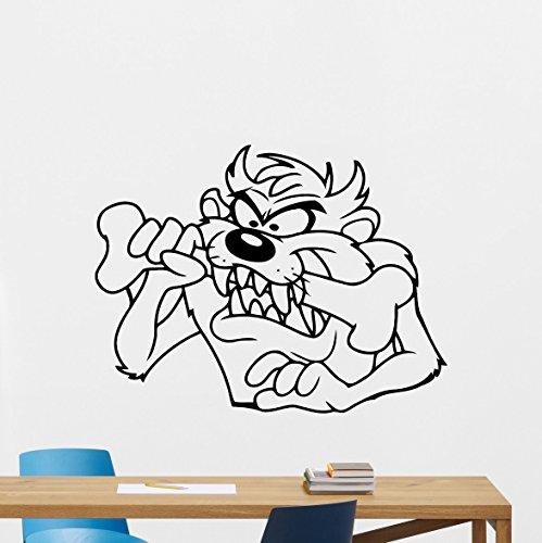 (Taz Wall Decal Tasmanian Devil Decal Cartoons Vinyl Sticker Nursery Looney Tunes Wall Art Design Housewares Kids Room Bedroom Decor Removable Wall Mural 61zzz)