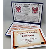 YOUR NAME, ITS MEANING, HISTORY, FAMILY CREST AND DAY YOU WERE BORN KEEPSAKE by NWM-Gifts