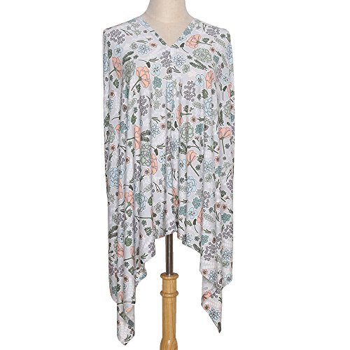 6-in-1 Breastfeeding Nursing Cover Poncho, Infinity Scarf, Car Seat or Stroller Canopy, Baby Blanket - Cali Floral