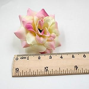 40pcs/lot 4cm Handmade Mini Artificial Silk Rose Flowers Heads DIY Scrapbooking Flower Kiss Ball For Wedding Decorative 2