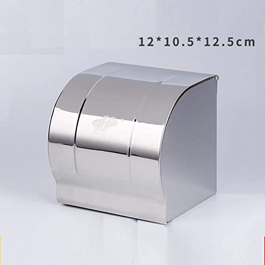 Portarrollos Caja De Pañuelos De Acero Inoxidable Portarrollos De Papel Higiénico De Rollo De Acero Inoxidable 12 * 10.5 * 12.5 Cm Porta Papel K8 304: Amazon.es ...