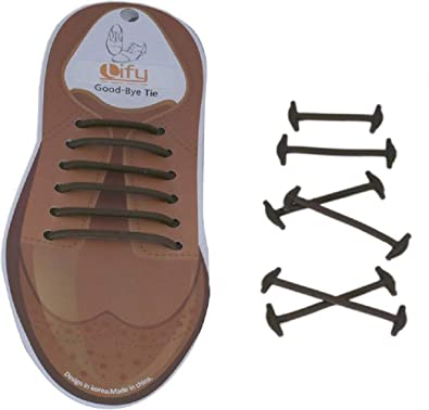 9be36e560cee1 JERN Men's Silicone Elastic Leather Shoe Laces -Pack of 10 (Black ...