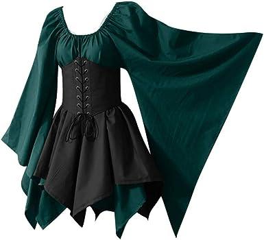 Sumeimiya Disfraz de Halloween para Mujer, Vestido gótico de ...