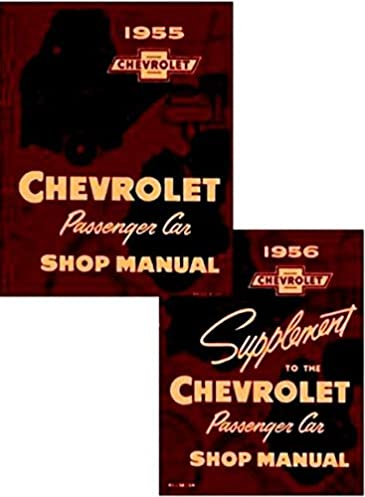fully illustrated 1956 chevrolet factory repair shop service rh amazon com 59 Chevy 1956 chevy shop manual