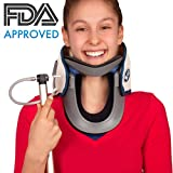 Medical Neck Cervical Traction Device Portable Home Use Therapy Unit Provide Relief for Neck + Upper Back Pain Dizziness Limb Numbness Discs Collar | Inflatable Neck & Shoulder (Velcro adjustment)