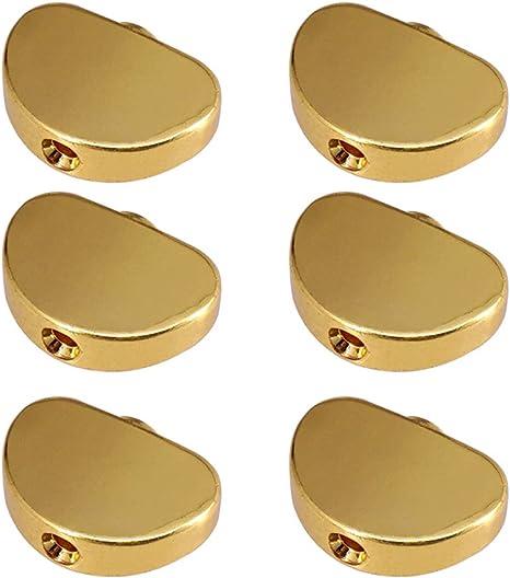 6 Piezas Tuning Peg Machine Heads Perillas Mango Cap Para Guitar ...
