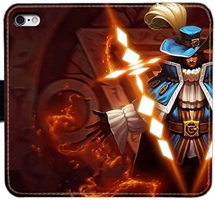 Amazon.com: League of Legends Twisted Fate PU Leather Flip ...
