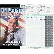 The First Universal Nation by Ben J. Wattenberg (1990-12-30)