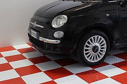 Pavimento piastrella rossa pp officina auto moto pavimentazione