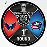 #9: The Hockey Company 2018 STANLEY CUP PLAYOFFS 1st ROUND PUCK DUELING TEAMS CAPITALS VS. BLUE JACKETS 1ST ROUND PRE-ORDER ITEM - SHIPPING BEGINS ON MAY 14TH WASHINGTON COLUMBUS