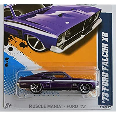 Hot Wheels 73 Ford Falcon XB Metalflake Purple 2012 Muscle Mania Ford Card 120: Toys & Games