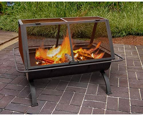 Landmann USA 28305 Northwoods Outdoor Fireplace,Black,Large