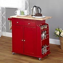 Living Red Sonoma Kitchen Cart