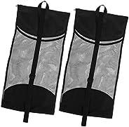 Fancyes 2Pcs Scuba Diving Mesh Gear Bag Shoulder Backpack for Fins Flippers Goggles