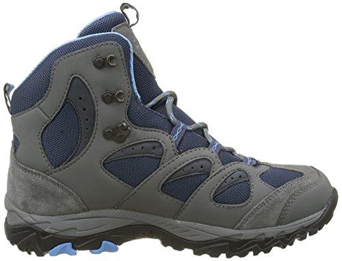 Hautes W Chaussures Dark 1165 MTN Randonnée Mid de Wolfskin Storm Bleu Jack Femme Texapore Sky HzAWa