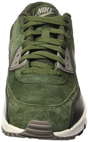 Nike Womens Air Max 90 Lthr Scarpa Da Corsa Verde Carbonio / Metallo Peltro / Vela