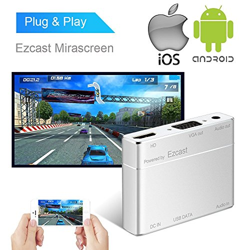 Price comparison product image Smartphones Laptop to HDMI VGA Adapter,  Boscheng WiFi Display Dongle Digital AV Adapter Power By EZCast USB to HDMI & VGA Full HD Adapter for iOS Android Smartphones Tablets PC
