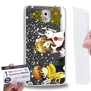 Case88 [Samsung Galaxy Note 3] Gel TPU Carcasa/Funda & Tarjeta de garantía - Tusbasa Chronicle Syaoran Sakura Mokona Modoki 1462