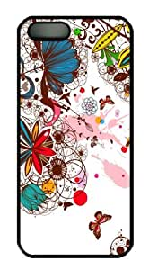 Fashion and Simple Design with Backgroud style -Colorful Floral Picture Hard Back Protector Case For Ipod Touch 4 Cover -51202