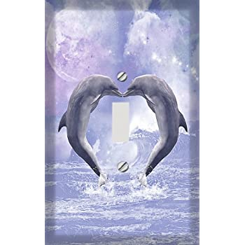 3dRose lsp/_172930/_6 a Dolphin Swims in The Ocean with Turtle Fishes and More Light Switch Cover 3D Rose Home Improvement