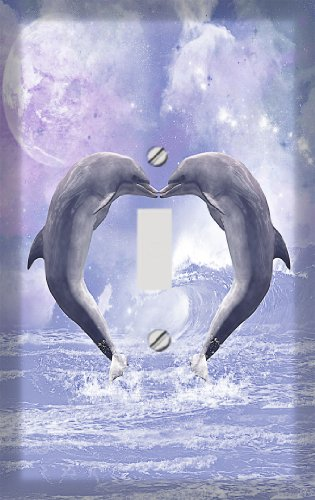 Dolphin Love Switchplate - Switch Plate Cover (Switchplate Dolphin)