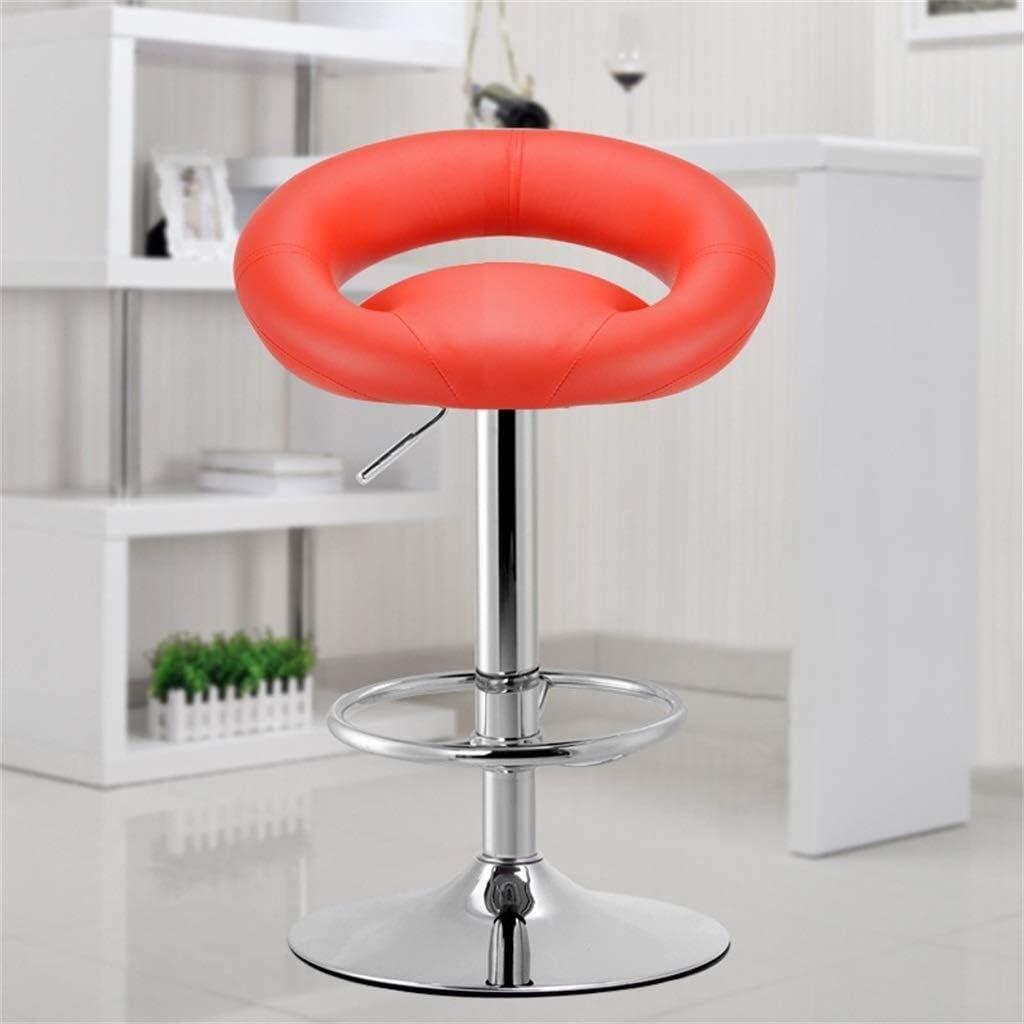 Tabouret de bar Ascenseur Pivotant Barstools En Cuir Cuisine Petit Déjeuner Bar Chaises Réglable Tabourets De Bar Pivotant chaise haute YZJL (Color : Beige) Red