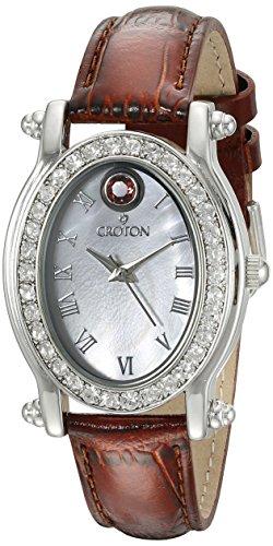 CROTON Women's CN207537PKMP Balliamo October Birthstone Analog Display Quartz Pink Watch Croton Womens Quartz Stone