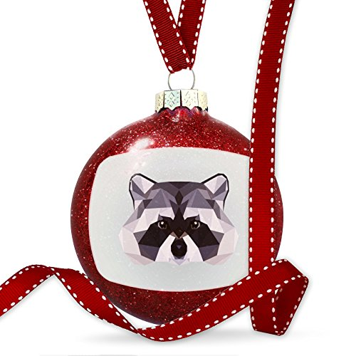Christmas Decoration Low Poly Animals Modern design Raccoon Ornament by NEONBLOND