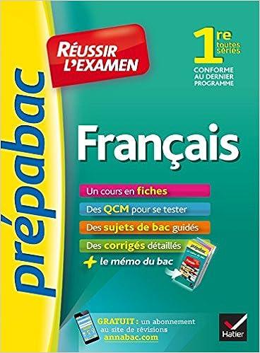 Français 1re toutes séries - Prépabac Réussir lexamen: fiches de cours et sujets de bac corrigés première: Amazon.es: Sylvie Dauvin, Jacques Dauvin: Libros ...