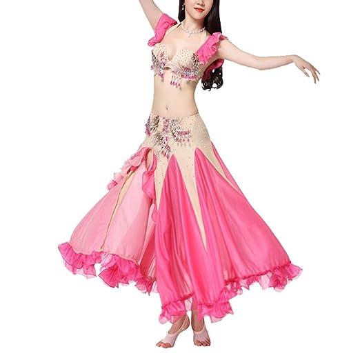 YAzNdom Vestido De Baile Latino Falda de Danza del Vientre for ...