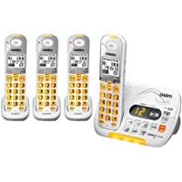 Uniden DECT 6.0 Cordless Phone with Caller ID Answering System and 3 Additional DCX 309 Handsets - White (D3097-4)
