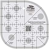 Creative Grids Curved Corner Cutter Quilting Ruler Template for Rounding Corners [CGRCCC]