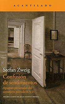 Confusión de sentimientos par Zweig
