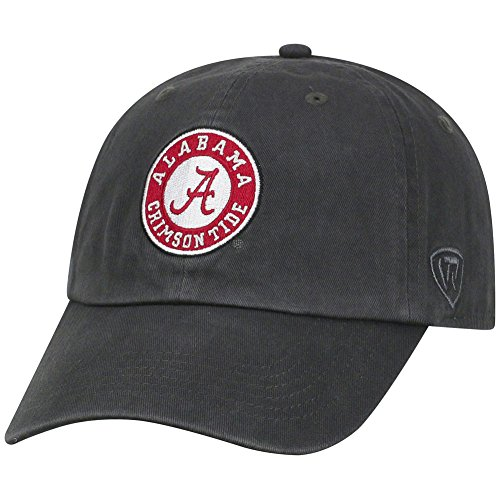 Top of the World Alabama Crimson Tide Men's Hat Arch, Charcoal, Adjustable